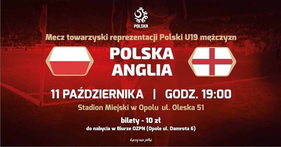 Polska – Anglia U19 przy Oleskiej 51!