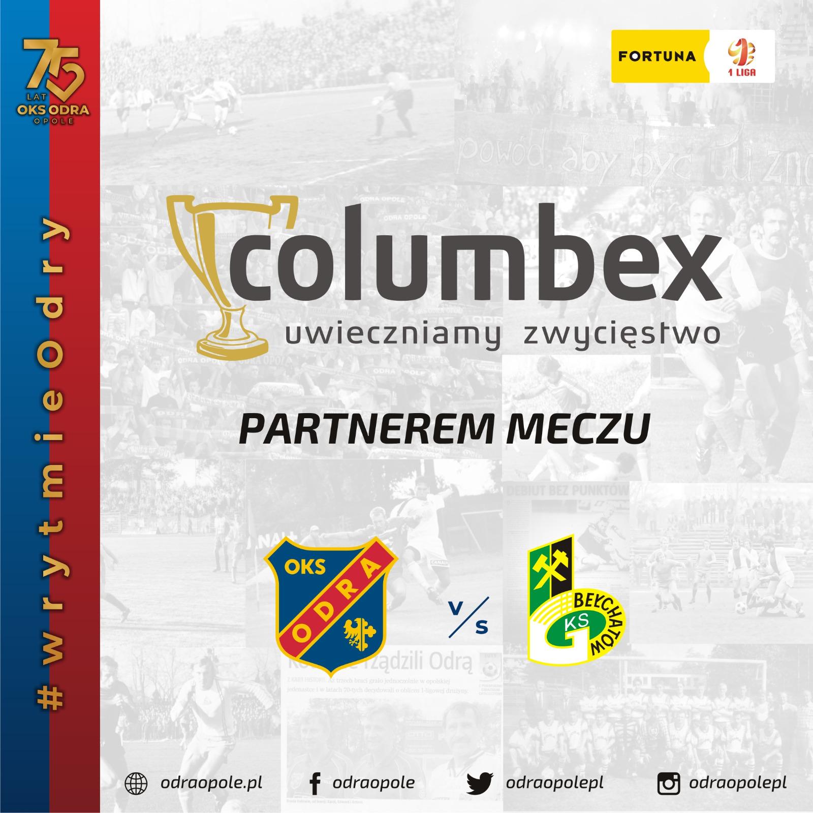 COLUMBEX partnerem meczu z GKS Bełchatów
