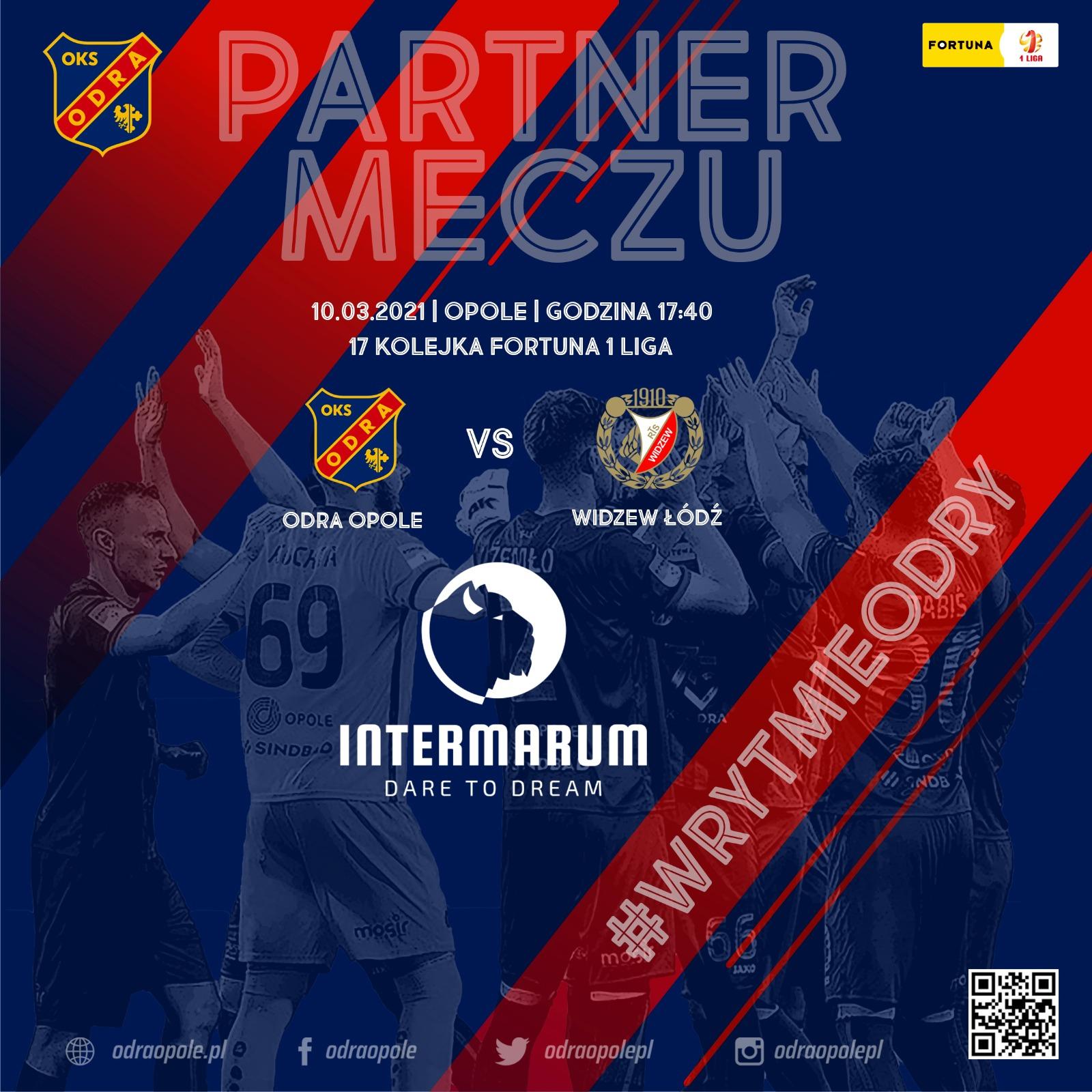 INTERMARUM Partnerem meczu z RTS Widzew Łódź.