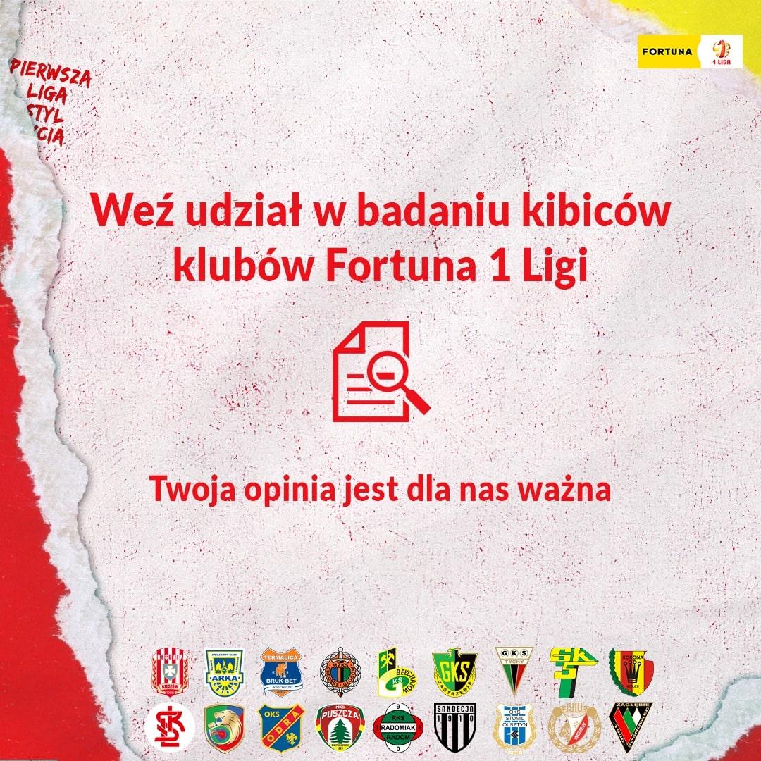 Badanie kibiców klubów Fortuna 1 Ligi – wyraź swoją opinię!