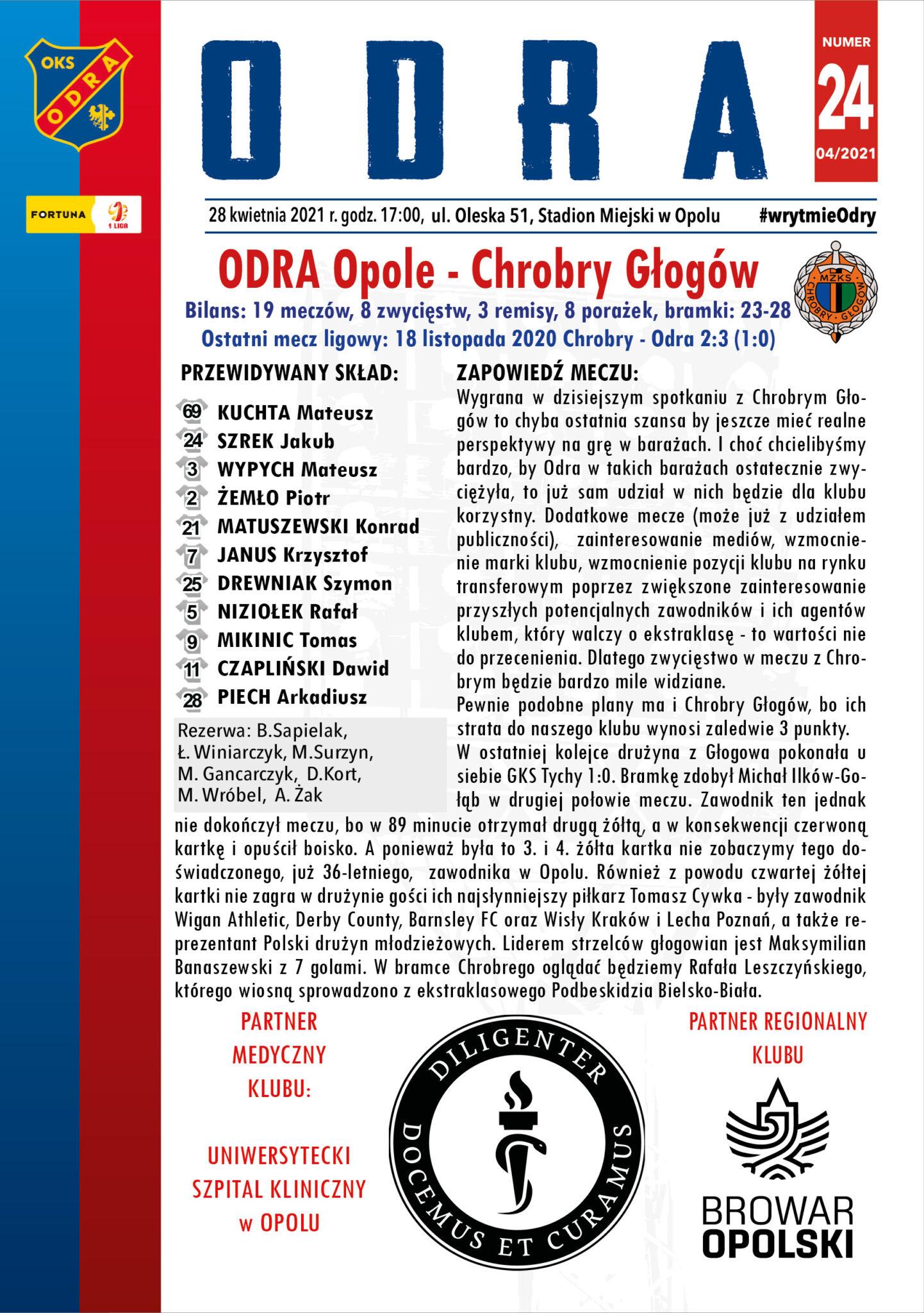 Program meczowy #ODRCHR