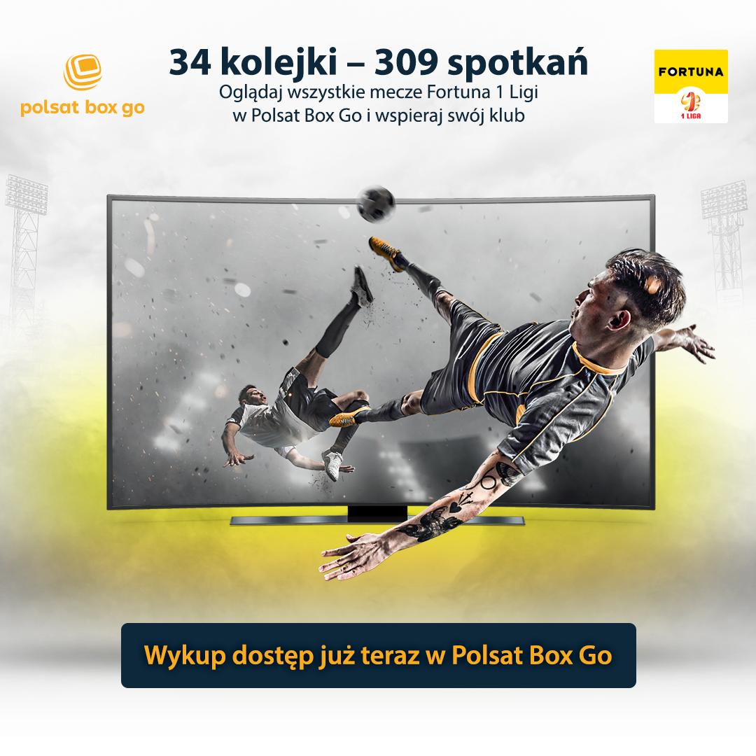 Rusza Polsat Box Go – zmiany w dostępie do transmisji spotkań Fortuna 1 Ligi